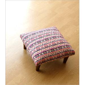 スツール おしゃれ クッション 低い ロータイプ 子供 椅子 ローチェア オットマン 足載せ 布張り 生地 かわいい 可愛い 四角 正方形 ロースツール スクエア|gigiliving|02