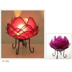 アジアン 照明 インテリアランプ 卓上スタンドライト テーブルランプ 間接照明 カピスロータスランプ L|gigiliving|13
