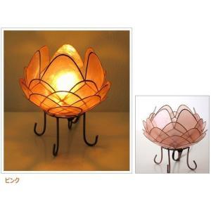 アジアン 照明 インテリアランプ 卓上スタンドライト テーブルランプ 間接照明 カピスロータスランプ L|gigiliving|14