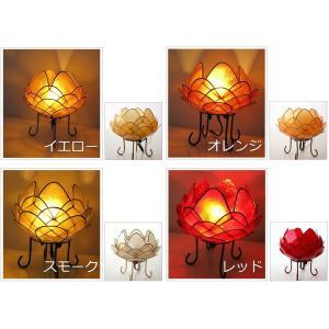 アジアン 照明 インテリアランプ 卓上スタンドライト テーブルランプ 間接照明 カピスロータスランプ L|gigiliving|03