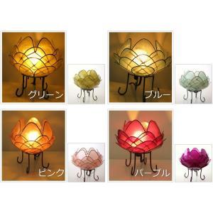 アジアン 照明 インテリアランプ 卓上スタンドライト テーブルランプ 間接照明 カピスロータスランプ L|gigiliving|04