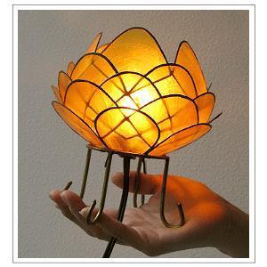 アジアン 照明 インテリアランプ 卓上スタンドライト テーブルランプ 間接照明 カピスロータスランプ L|gigiliving|05