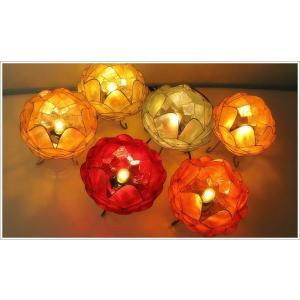 アジアン 照明 インテリアランプ 卓上スタンドライト テーブルランプ 間接照明 カピスロータスランプ L|gigiliving|06