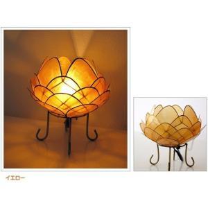 アジアン 照明 インテリアランプ 卓上スタンドライト テーブルランプ 間接照明 カピスロータスランプ L|gigiliving|07