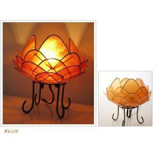 アジアン 照明 インテリアランプ 卓上スタンドライト テーブルランプ 間接照明 カピスロータスランプ L|gigiliving|08