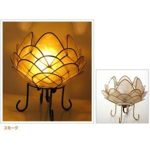 アジアン 照明 インテリアランプ 卓上スタンドライト テーブルランプ 間接照明 カピスロータスランプ L|gigiliving|09
