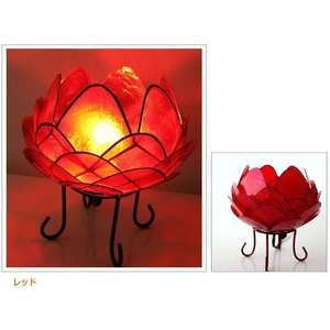 アジアン 照明 インテリアランプ 卓上スタンドライト テーブルランプ 間接照明 カピスロータスランプ L|gigiliving|10