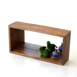 ナチュラルテイストのウッドミラーは ボックス仕様で 小さな棚として使える壁掛ミラー  パフュームの小...