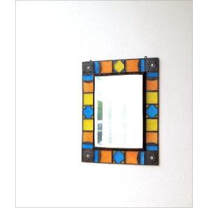 鏡 壁掛けミラー 手作り アイアン ガラス おしゃれ レトロ アンティーク ウォールミラー エキゾチックなガラスモザイクミラー gigiliving 02
