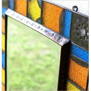 鏡 壁掛けミラー 手作り アイアン ガラス おしゃれ レトロ アンティーク ウォールミラー エキゾチックなガラスモザイクミラー gigiliving 04