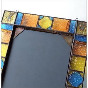 鏡 壁掛けミラー 手作り アイアン ガラス おしゃれ レトロ アンティーク ウォールミラー エキゾチックなガラスモザイクミラー gigiliving 06