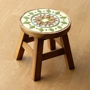スツール 木製 椅子 いす イス ミニスツール 玄関 花台 ミニテーブル ウッドチェア おしゃれ 子供椅子 モザイク|gigiliving