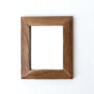 鏡 壁掛けミラー 木製 古木のウォールミラー|gigiliving