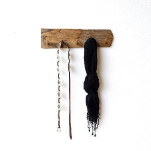 フック 壁 鍵掛け キーフック おしゃれ 木製 天然木 ナチュラル ウッド インテリア チーク古材フック|gigiliving