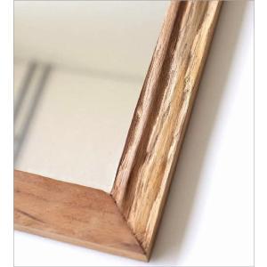 鏡 壁掛けミラー ウォールミラー 木製 角型 おしゃれ 古木のシンプルミラー|gigiliving|03
