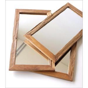 鏡 壁掛けミラー ウォールミラー 木製 角型 おしゃれ 古木のシンプルミラー|gigiliving|05
