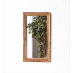 鏡 壁掛けミラー ウォールミラー 木製 角型 おしゃれ 古木のシンプルミラー|gigiliving|06