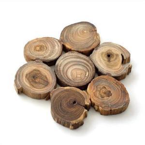 鍋敷き 鍋敷 おしゃれ 木製 チーク切り株鍋敷き gigiliving