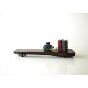 チークトレー 天然木 ディスプレイスタンド インテリアトレイ 木製 無垢 アジアン雑貨 棚 飾り台 整理棚 スパイスラック シェルフ シンプルなチークの棚|gigiliving|06