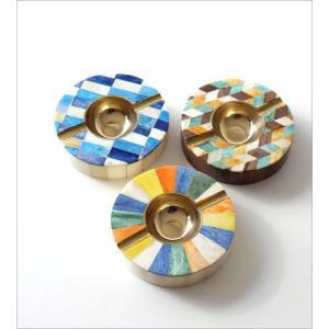 灰皿 おしゃれ 卓上 カラフル デザイン レトロ アンティーク 真鍮 シーシャムウッド ボーンのサークルアッシュトレイ 3タイプ|gigiliving|02