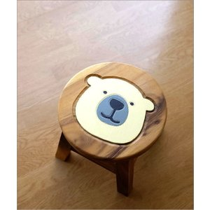 スツール 木製 椅子 子供椅子 白くまくん gigiliving 02