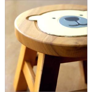 スツール 木製 椅子 子供椅子 白くまくん gigiliving 03
