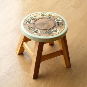 スツール 木製 椅子 いす イス ミニスツール 玄関 花台 ミニテーブル ウッドチェア おしゃれ 子供椅子 フラワーサークル|gigiliving
