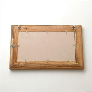 鏡 壁掛けミラー ウッド 木製 ウォールミラー 壁掛け組み木ミラー M|gigiliving|04