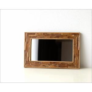 鏡 壁掛けミラー ウッド 木製 ウォールミラー 壁掛け組み木ミラー M|gigiliving|05