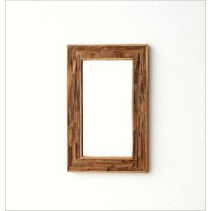 鏡 壁掛けミラー ウッド 木製 ウォールミラー 壁掛け組み木ミラー M|gigiliving|06