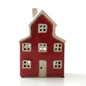 キャンドルハウス 陶器 キャンドルホルダー おうち 家 おしゃれ かわいい ハウス型 LED付きキャンドルハウスB gigiliving