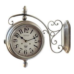 両面時計 おしゃれ 掛け時計 壁掛け時計 アンティーク レトロ クラシック ヨーロピアン 北欧 カフェ インテリア デザイン かっこいい ウォールクロック 両面|gigiliving