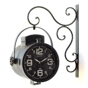 壁掛け時計 掛け時計 掛時計 壁掛時計 おしゃれ アンティーク レトロ クラシック ヴィンテージ カフェ かっこいい ウォールクロック スポットライト|gigiliving