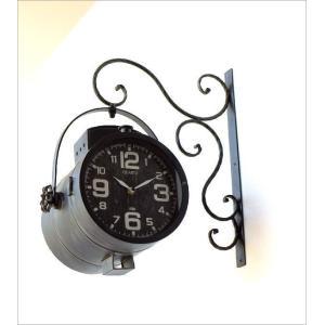 壁掛け時計 掛け時計 掛時計 壁掛時計 おしゃれ アンティーク レトロ クラシック ヴィンテージ カフェ かっこいい ウォールクロック スポットライト|gigiliving|02
