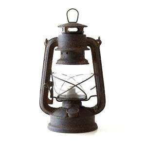 アイアンのガラスランプは 全体にわざと、さびペイントを施した ヴィンテージ感のあるレトロなランプです...