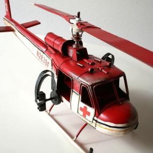 ブリキのおもちゃ 置物 置き物 インテリアオブジェ アンティーク レトロ 雑貨 American Nostalgia 救護ヘリコプター