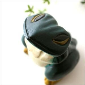 カエル かえる 置物 置き物 雑貨 グッズ オブジェ インテリア 木彫りのカエル|gigiliving