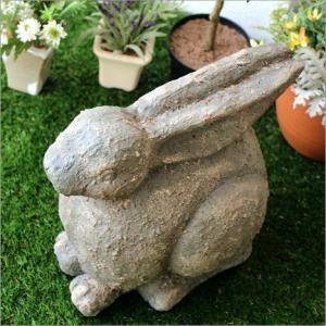 ガーデン置物 置き物 うさぎ ウサギ ガーデンオブジェ レジンラビット|gigiliving