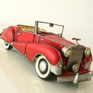 ブリキのおもちゃ 置物 置き物 インテリアオブジェ アンティーク レトロ 雑貨 American Nostalgia クラシックオープンカー