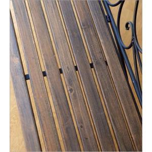 ガーデンベンチ 折りたたみ おしゃれ アイアンとウッドの2人掛けベンチ B gigiliving 04