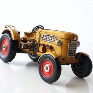 ブリキのおもちゃ 車 レトロ アンティーク 置物 インテリアオブジェ アイアン 鉄 American Nostalgia トラクター