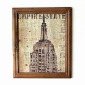 古いイメージのポスターを 木枠にセットした壁掛フレーム  カラフルな絵画や モダンな壁掛もオシャレに...