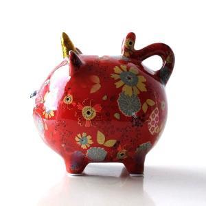 貯金箱 おしゃれ かわいい 陶器 ネコ 猫 オブジェ 置物 可愛い 動物 アニマル インテリア 陶器のカラフル貯金箱 ネコ