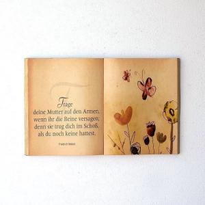 アンティークな洋書を広げ そのまま壁掛にしたようなブックアート  本の形に成型し 上からプリントした...