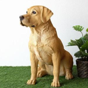 犬 置物 オブジェ アニマル ドッグオーナメント 玄関 ガーデンオーナメント インテリア イヌ いぬ ペット 動物 オーナメント ラブラドールレトリバー|gigiliving