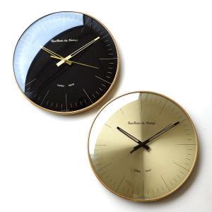 壁掛け時計 掛け時計 おしゃれ 音がしない 静音 かっこいい シンプル モダン スイープムーブメント ブラック ゴールド レトロデザインウォールクロック 2カラー|gigiliving