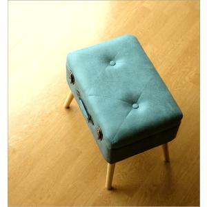 スツール 収納 ボックス トランク型 レトロ アンティーク おしゃれ かわいい デザイン BOX インテリア 椅子 四角 スクエア コンパクト トランク スツールB|gigiliving|02