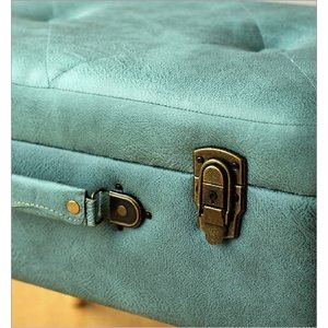 スツール 収納 ボックス トランク型 レトロ アンティーク おしゃれ かわいい デザイン BOX インテリア 椅子 四角 スクエア コンパクト トランク スツールB|gigiliving|03
