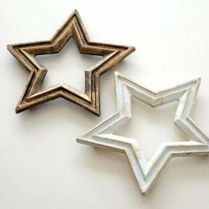 鍋敷き おしゃれ かわいい 星 デザイン なべしき アイアンの鍋しき スター2カラー|gigiliving