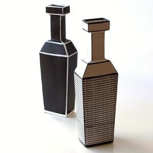 花瓶 花びん 陶器 セラミック フラワーベース おしゃれ モダン 北欧 ボトル 縦長 細長い セラミックベース 2タイプ|gigiliving